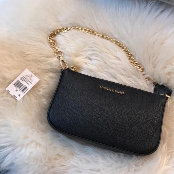 709d6ae7d6b1 MICHAEL Michael Kors Bags | Nwt Michael Kors Medium Chain Pouchette ...
